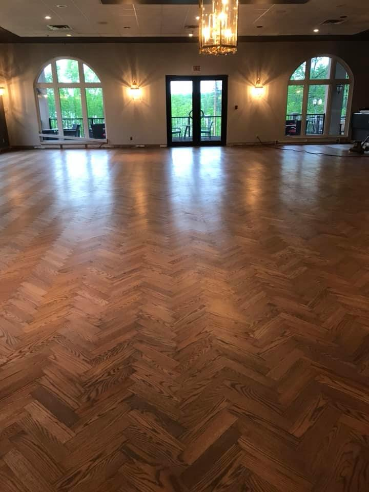 Hard wood floor with natural oil